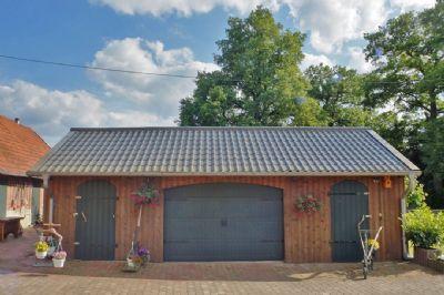 Garage mit elekt. Rolltor, Werkstatt, Abstellraum