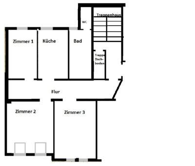 WG geeignete 3 Zimmerwohnung
