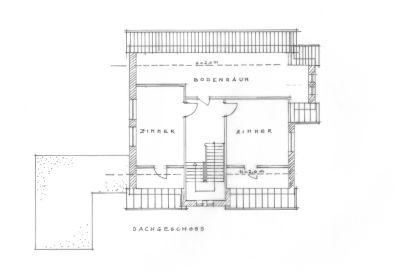 Dachgeschoss-Grundriss