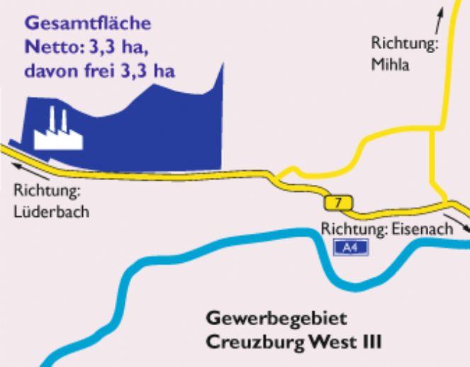 Gewerbegrundstück im Gewerbegebiet - Creuzburg West III -