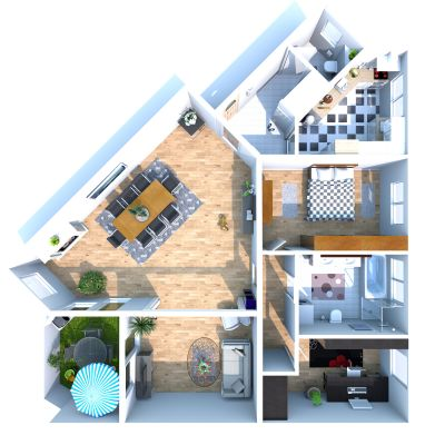 wohnen mit flair individueller grundriss zum leben etagenwohnung m llheim 2cxj34b. Black Bedroom Furniture Sets. Home Design Ideas