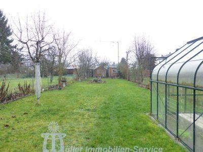 Rasenfläche/Gewächshaus