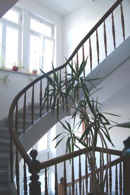 Herrschaftliches Treppenhaus mit Fenstern