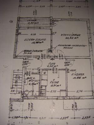 Grundriss der 3 Zimmerwohnungen