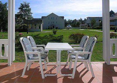 4* Komfort-Ferienwohnung Goedeke im Dünenpark Binz mit Strandkorb