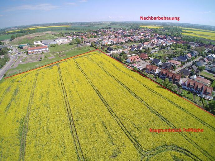Bernburg / Salzlandkreis: 44.000 m² Baugrundstück (WA) mit B-Plan, randerschlossen, Teilflächen ab 5000 m²