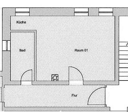 Wohnen im östl Ringgebiet - Niedliche 1-Zimmer-Altbau-Wohnung