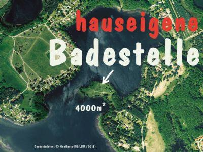 Ferienwohnungen 1 - 6 Personen mit großer hauseigener Badestelle am Zootzensee und Bungalow für 2 Personen