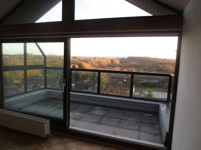 Helle und geräumige Dachgeschosswohnung mit Ausblick ins Grüne