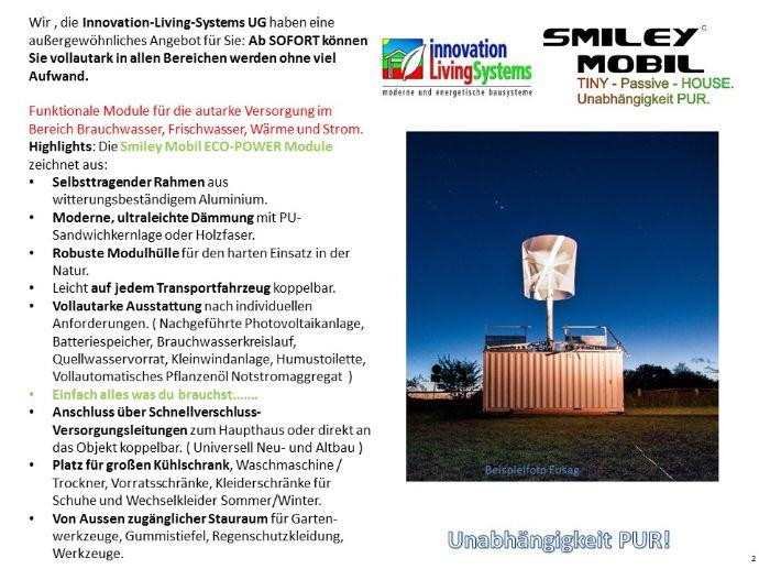 EcoPower Autarkmodul für Tiny Haus / Mobil Home / jedes Haus