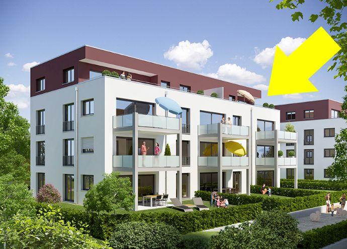 Herrlich sonnige, ruhige 3-Zimmer Dachterrassenwohnung in Renningen, Kreis BB (Neubau 2017)