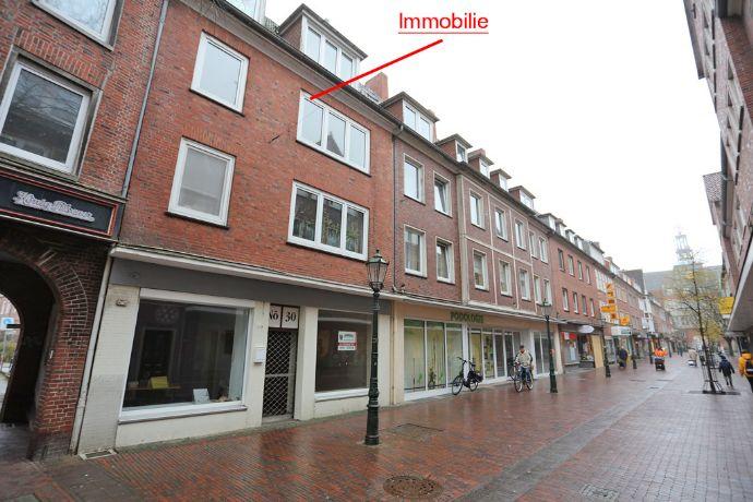 Frisch renovierte 2-Zimmer-DG-Wohnung in zentraler Lage von Emden, kurzfristig verfügbar