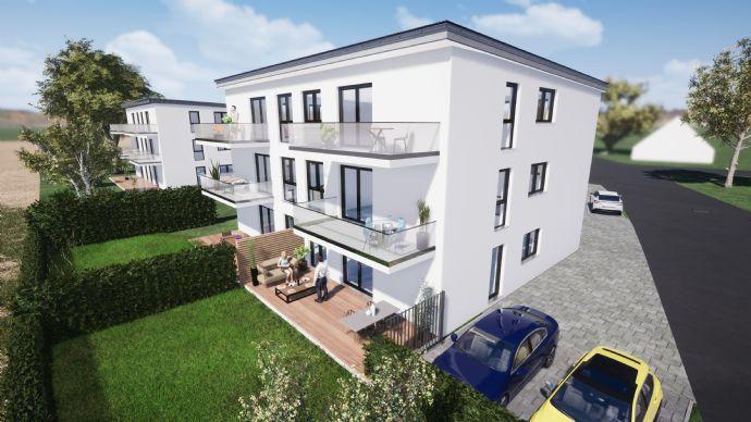 Neubau helle 3-Zimmer-Wohnung in Hirschaid im 1.OG