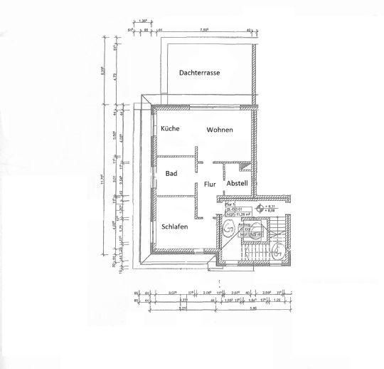 Luxuriöses Penthaus im Zentrum von Gifhorn mit großer Dachterrasse, Einbauküche, Klimaanlage und
