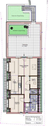 Erstbezug: freundliche 2 (optional 3)-Zimmer-Dachgeschosswohnung mit Terrasse in Durbach