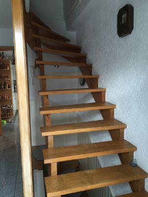 Treppe zum Spitzdach