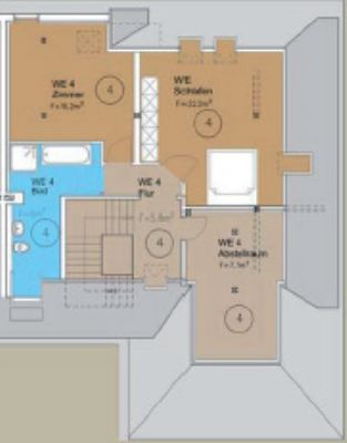 Wohnung 4 - 5 Zimmer DG