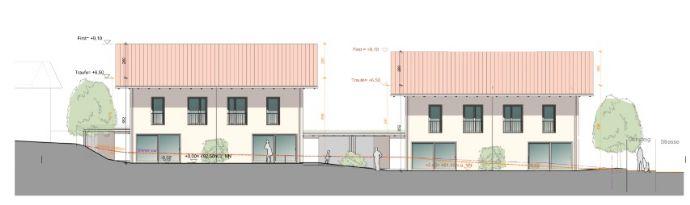 Neubau von vier Doppelhaushälften in Soyen am Kitzberg