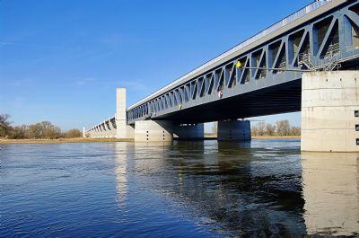 Die Elbe zwischen Magdeburg und Möser