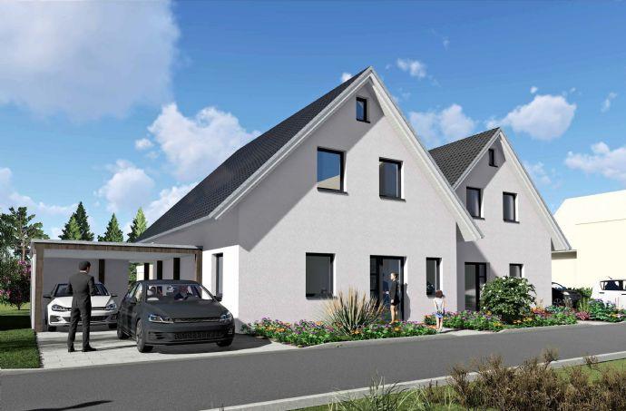 Projektvorstellung: Neubau von einem Doppelhaus auf Eigentumsgrundstück Baubeginn 04.2020
