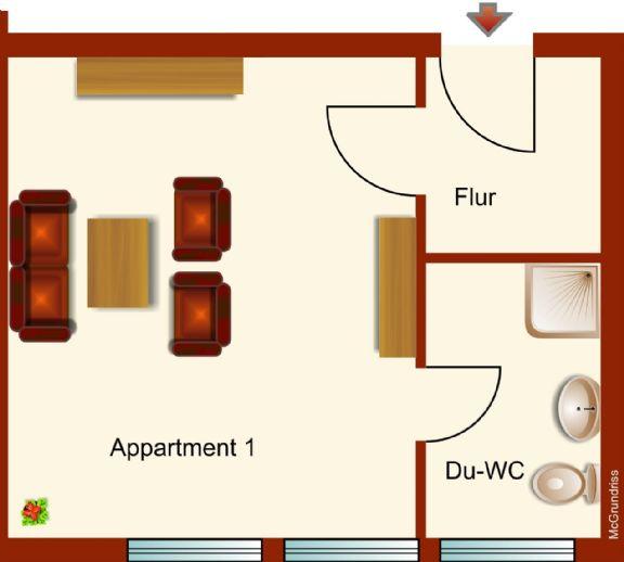 1-Zimmer Appartement in Rheda-Wiedenbrück