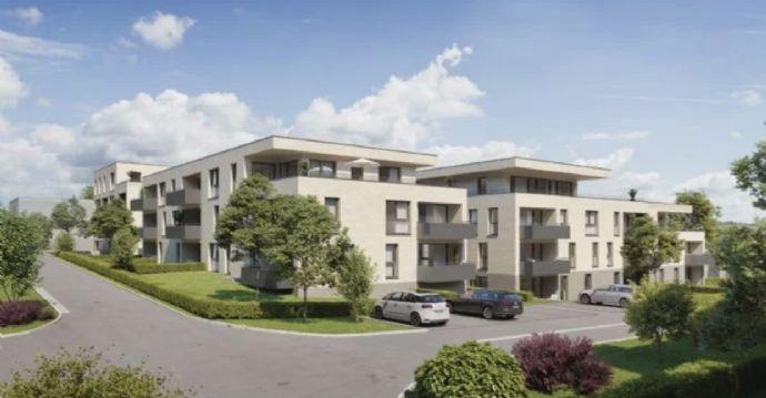 Erstbezug einer hochwertigen, hellen 80 m² 3 Zimmer Wohnung mit Terrasse und 110 m² Garten, Stellp