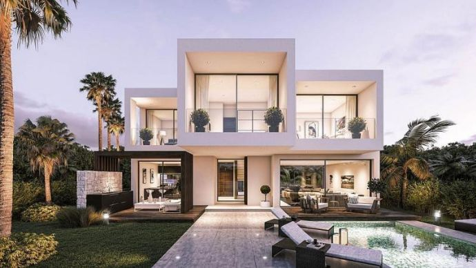 Neubau projekt moderne villen neue goldene meile marbella west mit
