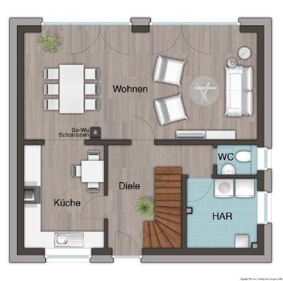 Erdgeschoss 4 Zimmer Variante