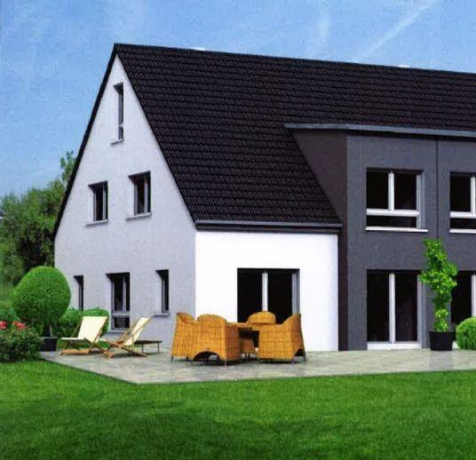 Neubau Doppelhaushälfte im Zentrum von