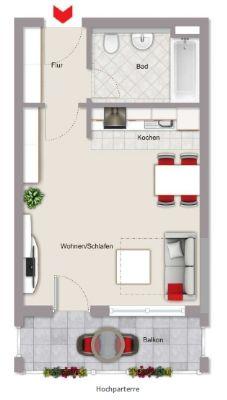 Exklusive 1-Zimmer-Wohnung in Türkheim