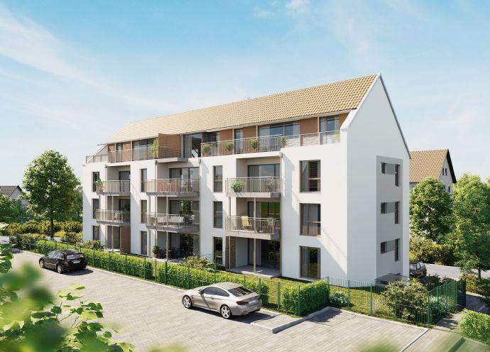 NEUBAU 3-Zimmer-Wohnung mit großem Süd-West-Balkon