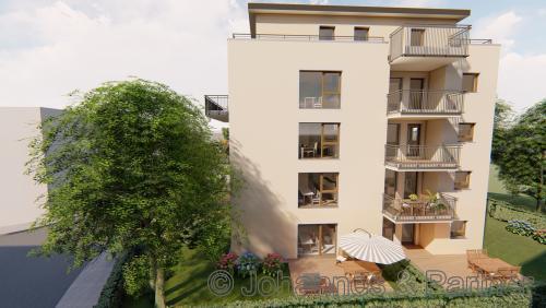 Neubau in Löbtau - moderne 2 Zimmer-Wohnung mit Terrasse und Garten