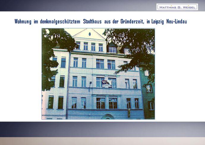Wohnung im denkmalgeschützem Stadthaus aus der Gründerzeit, in Leipzig Neu - Lindau