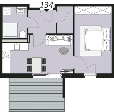 Beispielgrundriss Wohnung 134