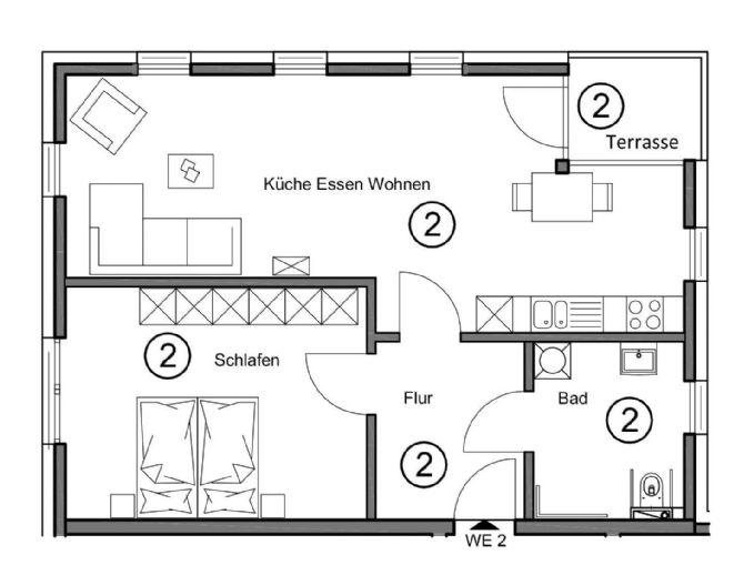 wunderschöne Eigentumswohnung in neu gebauter Gartenvilla mit 6 Wohneinheiten