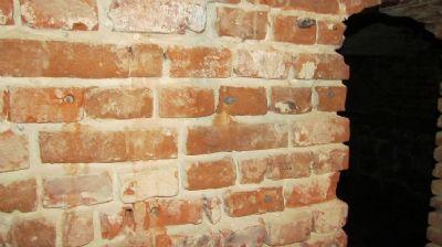 Mit Injektionen sanierte Wand