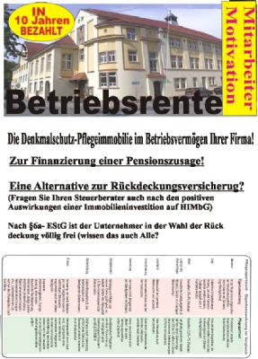 Betriebsrente für Firmen 1 Faltblatt