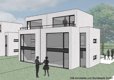 neubau von doppelhaush lften am rosenhang hildesheim. Black Bedroom Furniture Sets. Home Design Ideas