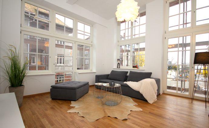 2-Zimmer-Wohnung unterm Dach - Moderne Loftwohnung in Schleußig ...
