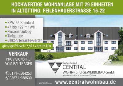 Neubau Eigentumswohnung in Altötting, 3-Zi. mit Gartenanteil