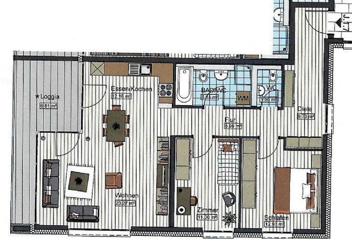 3 Zimmer Wohnung in Neu-Ulm zu vermieten