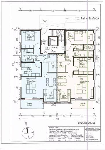 3- Zi. Neubauwohnung Nr. 1 - Terrassenwohnung