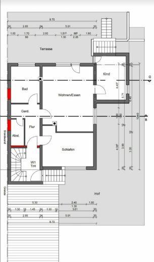 Schöne 3 Zimmer Wohnung im EG, Hell, mit Terrasse in Himmelstadt