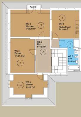 Wohnung 3 - 5 Zimmer EG
