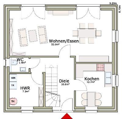 EFH Stadthaus 120 EG -Web-