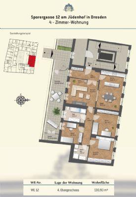 Grundriss Wohnung 12 - 4.OG
