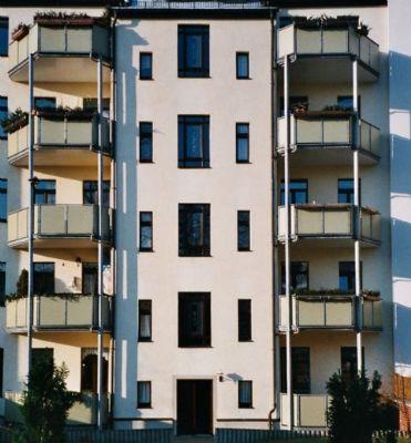 Rückansicht mit Balkonen