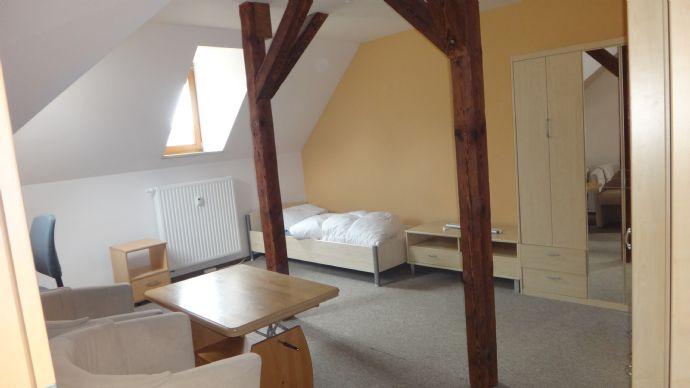 Geräumige 1-Zimmer-Wohnung (Apartment), Dachgeschoss, komplett eingerichtet!