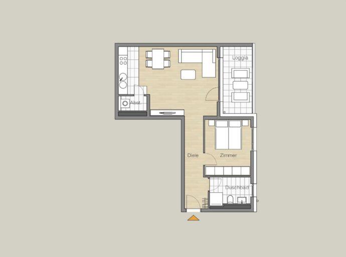 Charmante 2-Zimmer-Wohnung mit großem Balkon