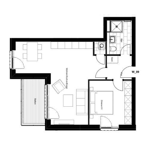 ERSTBEZUG! Gemütliche und helle 2 Zimmer Wohnung mit Balkon und EBK